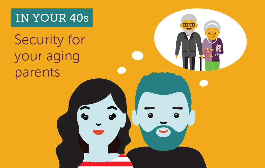In your 40s. Security for your aging parents