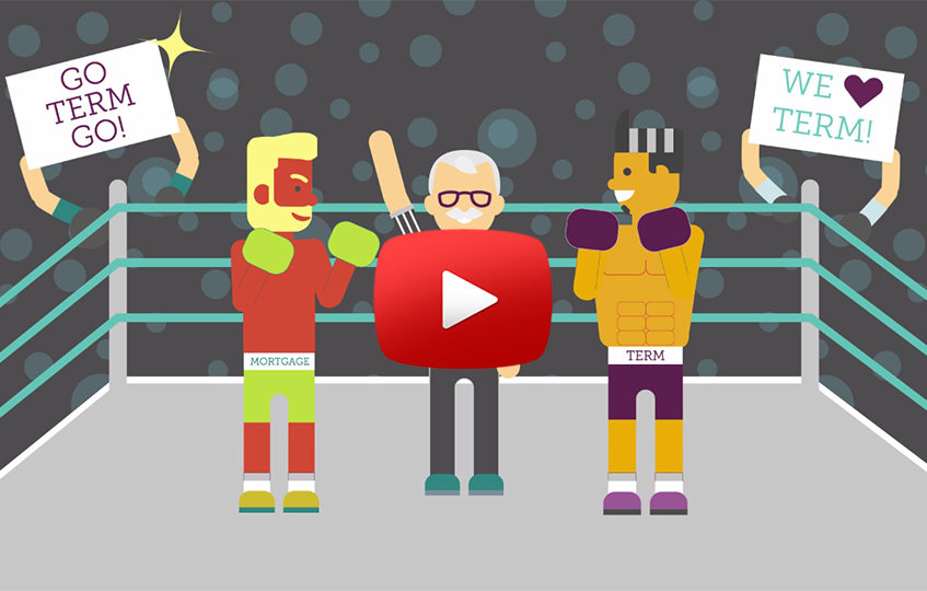 Term Insurance boxer and Mortgage Insurance Boxer